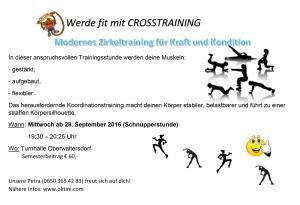 crosstrainingwerbung