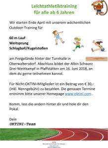 Leichtathletik Werbung 2018
